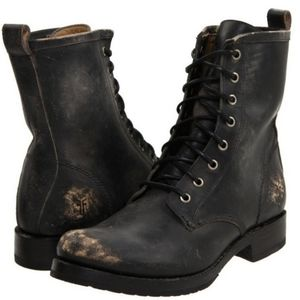 New Frye Veronica Lace up Combat Boot
